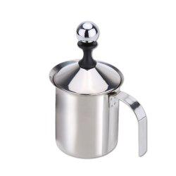 Stainless Steel Double Mesh Milk Foamer DIY Fancy White Coffe -