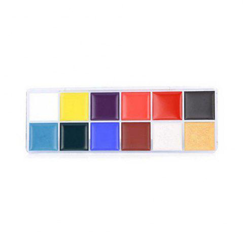 12 Colors Oil Paint Greasepaints Play for World Cup Clown Halloween Face Makeup