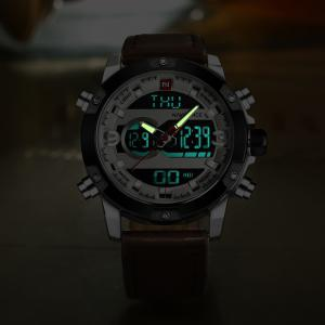 Naviforce9097Men's Dual Display Luminous Multifunctional Waterproof Sports Watch -