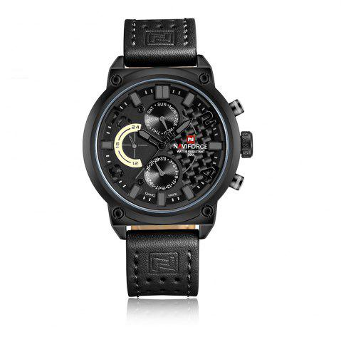 Outfits Naviforce Luxury Leather Band Men Sports Wristwatch