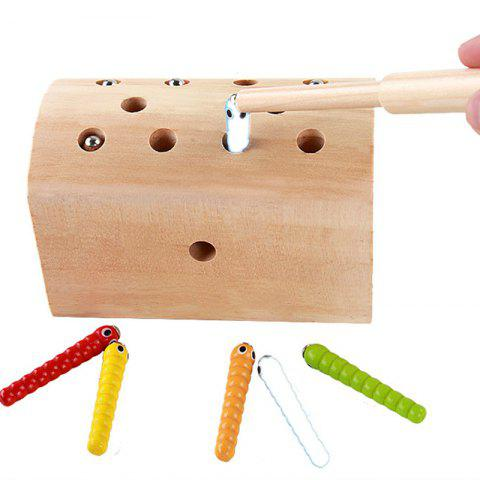 Shops Creative Design Magnetic Wooden Puzzle Game Catch the Worm