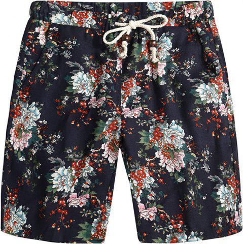 New Beach Flower Printed Loose Shorts