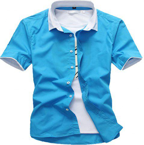 Cheap Summer Men's Solid Color Shirts