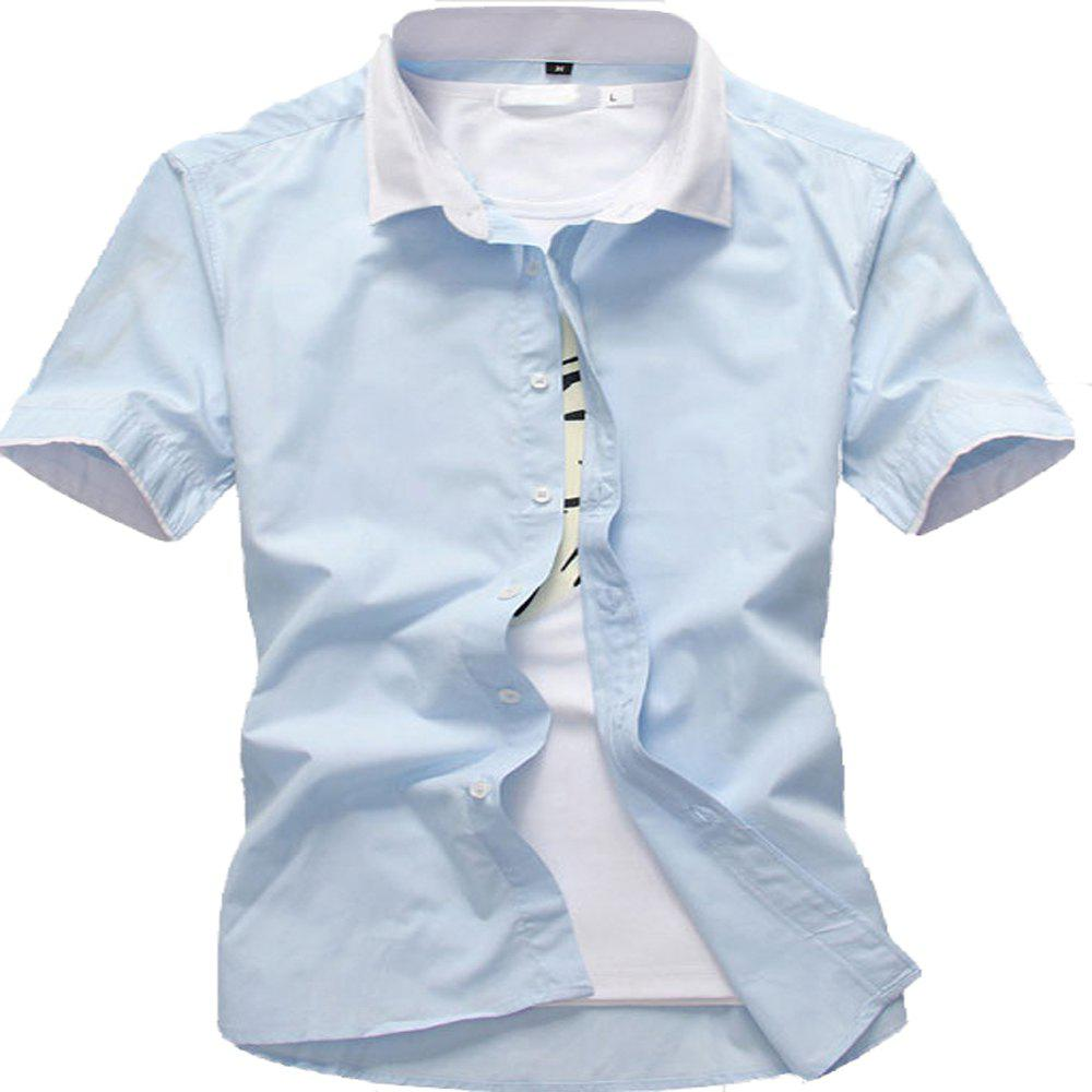 Chic Summer Men's Solid Color Shirts