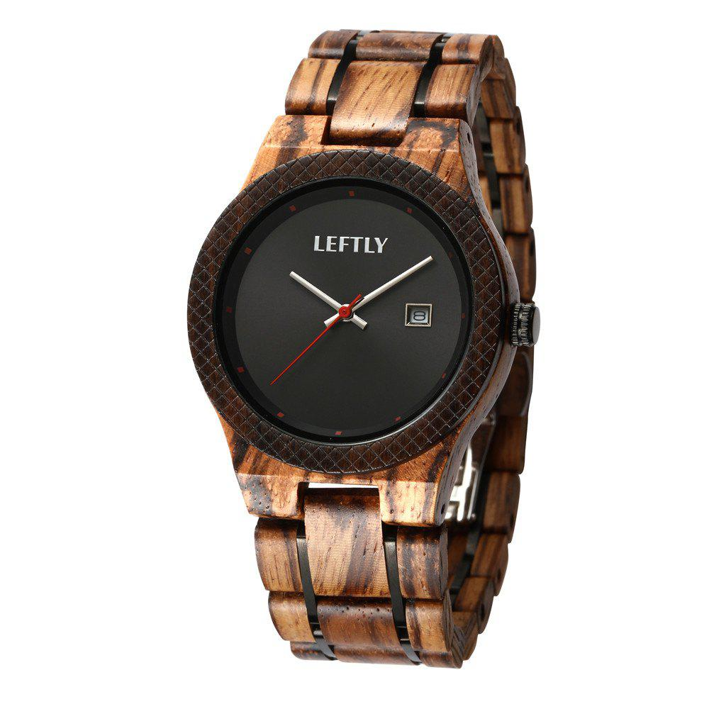 Online LEFTLY LYM002 Men Wooden Analog Quartz Movement Watch