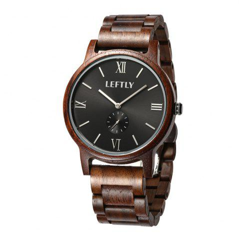 Store LEFTLY LYM008 Men Wooden Quartz Wrist Watch Miyota Movement