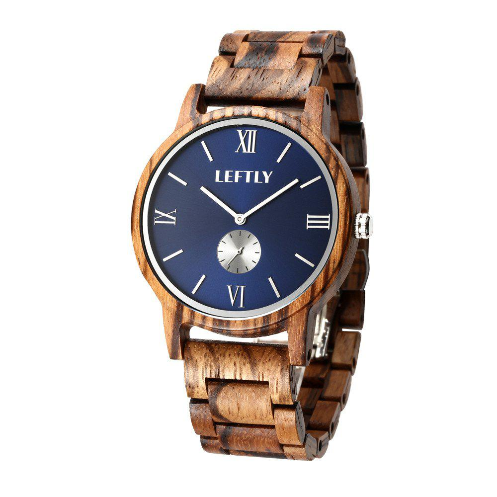 Buy LEFTLY LYM008 Men Wooden Quartz Wrist Watch Miyota Movement