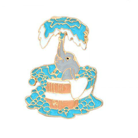 Hot Lovely Bathing Calf Elephant New Jewelry Alloy Coat Badge Brooch Cartoon School