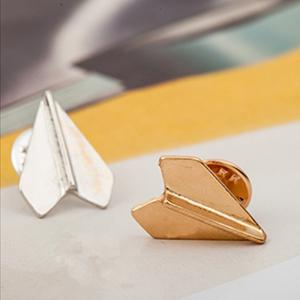 New Geometric Patterns Pins Paper Aircraft Brooches Costumes Accessories Fashion -