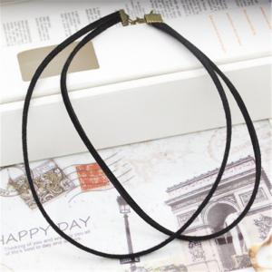 Simple Fashion New Style Jewelry Double Flannelette Necklace Clavicle Chain Girl -