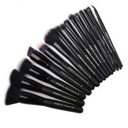 15 Black Classic Makeup Brushes -