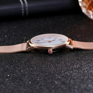 New Fashion Lady Alloy Mesh Band Student Casual Watch -