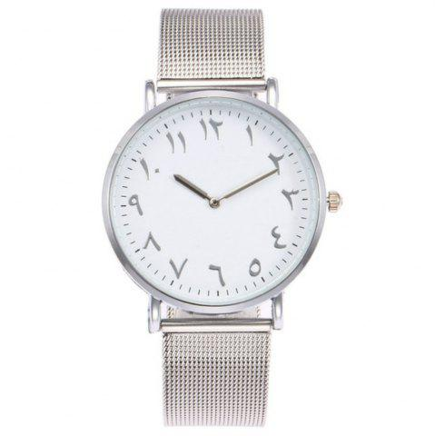 Shops New Fashion Lady Alloy Mesh Band Student Casual Watch