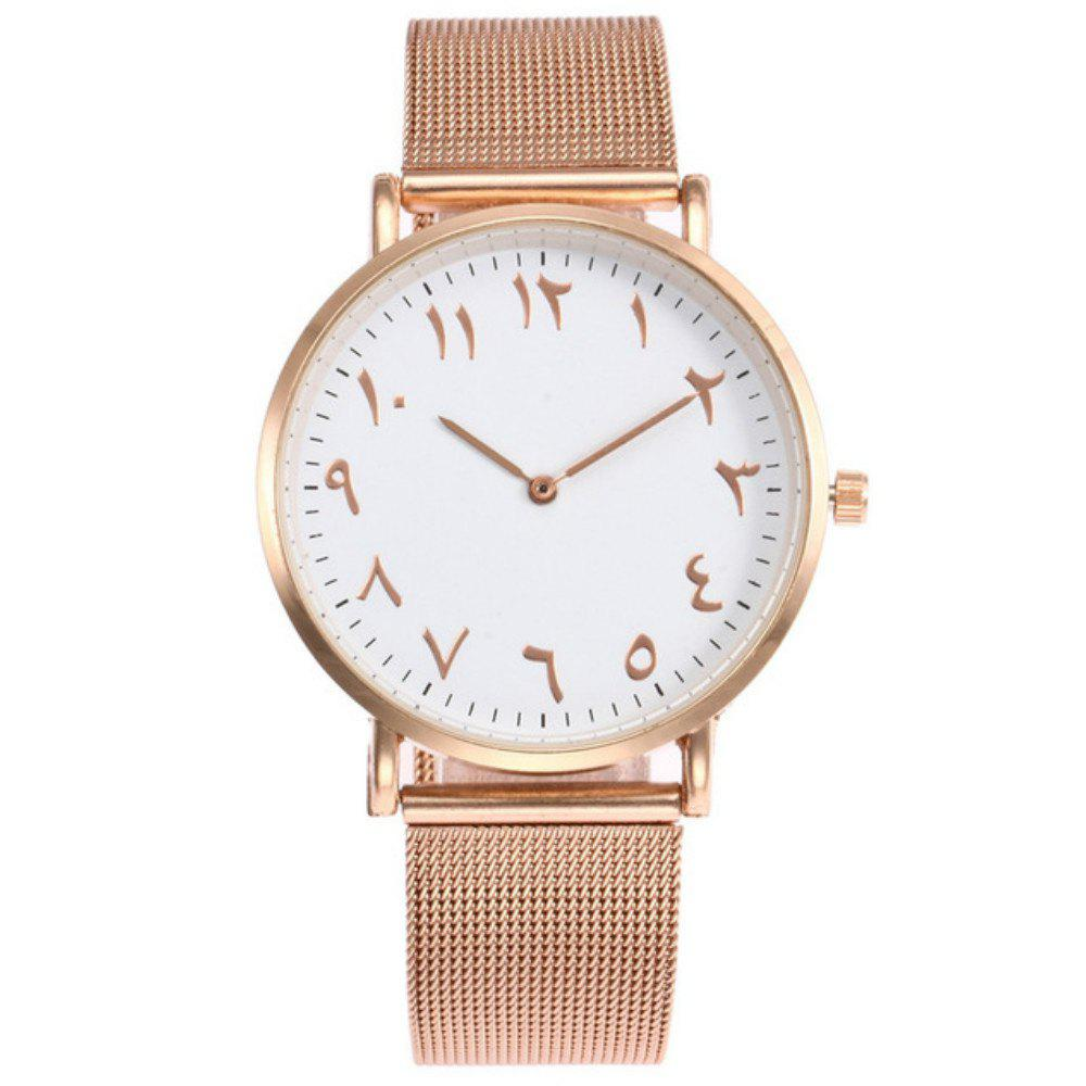 Latest New Fashion Lady Alloy Mesh Band Student Casual Watch