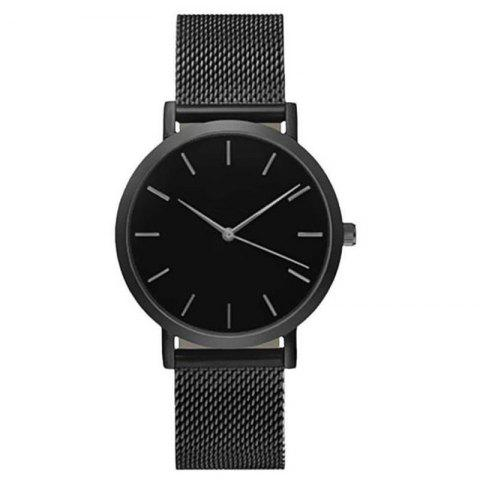Chic Fashion Women Business Stainless Steel  Minimalist Quartz Wrist Watch