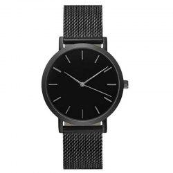 Fashion Women Business Stainless Steel  Minimalist Quartz Wrist Watch -