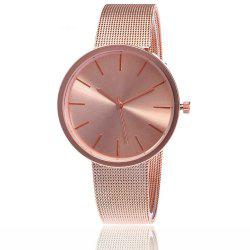 Fashion Silver And Rose Gold Mesh Band Wrist  Casual Women Quartz Watch -