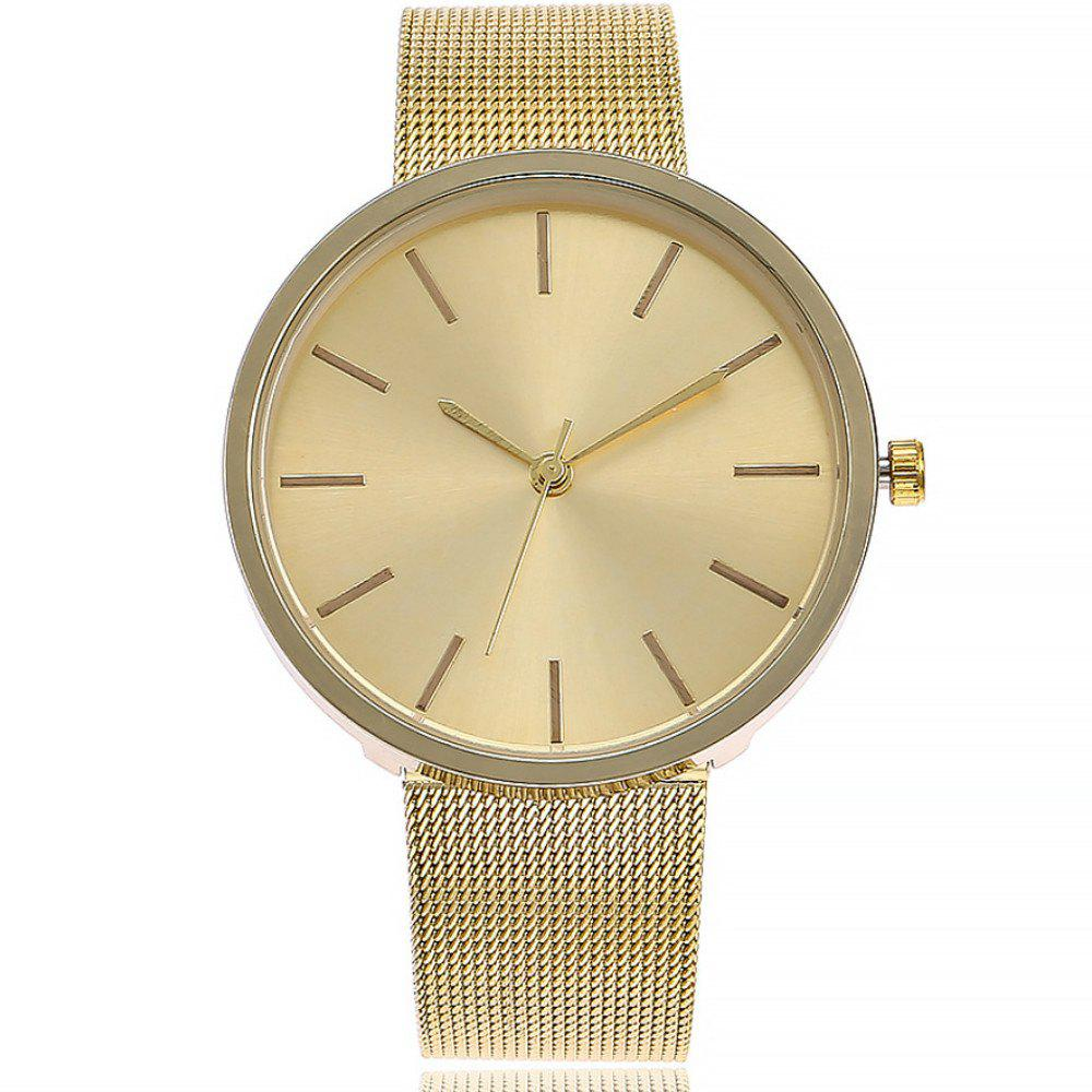Affordable Fashion Silver And Rose Gold Mesh Band Wrist  Casual Women Quartz Watch