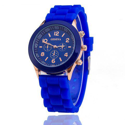 Trendy Geneva Casual Fashion Silicone Band Women Quartz Watch