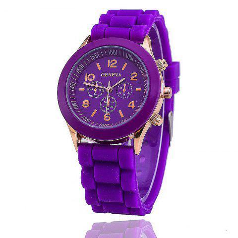 Cheap Geneva Casual Fashion Silicone Band Women Quartz Watch