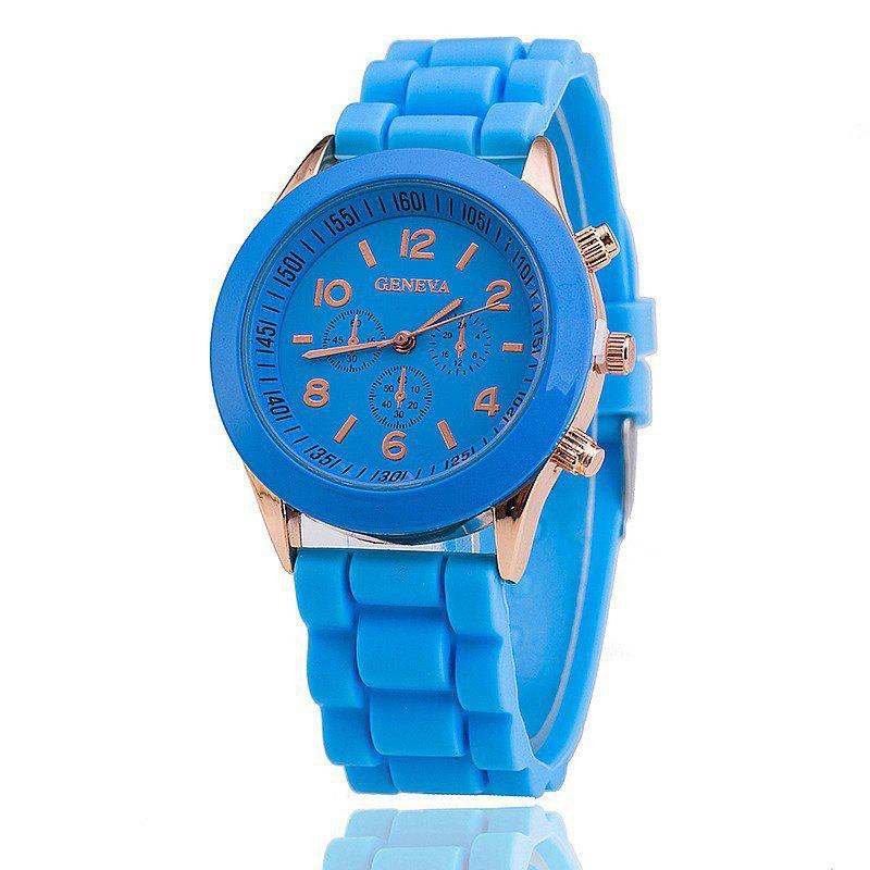 Hot Geneva Casual Fashion Silicone Band Women Quartz Watch