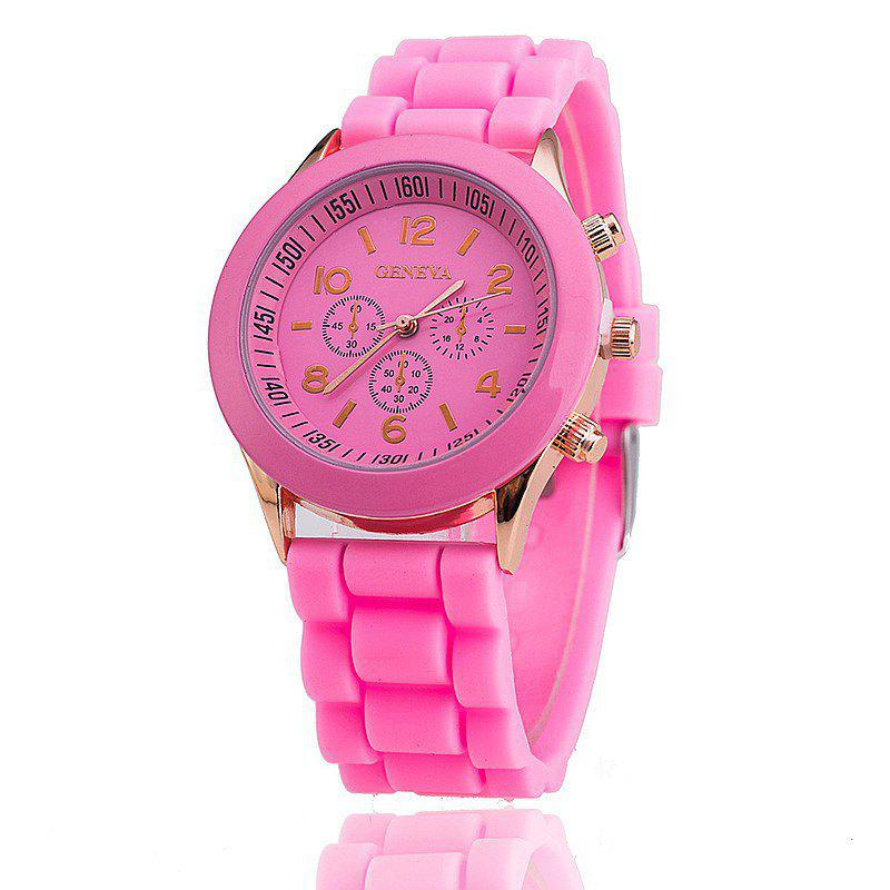Outfit Geneva Casual Fashion Silicone Band Women Quartz Watch