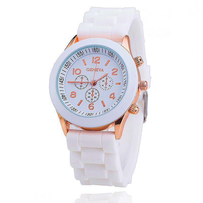 New Geneva Casual Fashion Silicone Band Women Quartz Watch