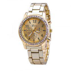 The New Fashion Lady Business Steel Quartz Diamond Wrist Watch -
