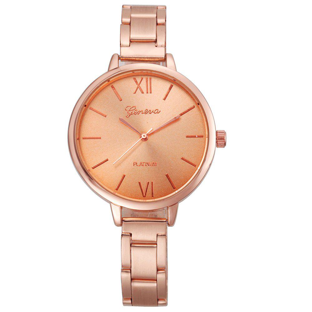 Trendy Classic Gold Silver Rose Gold Fashion Women Small Steel Band Thin Band Watch