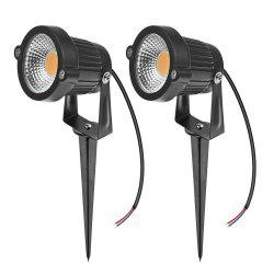 7W COB  Waterproof Outdoor Garden Low Voltage AC12V Lawn Lamp Spiked Stand 2PCS -