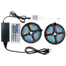 ZDM 2 x5M Waterproof 2835RGB LED Strip Light 44Key Controller 12V3A Power Supply -
