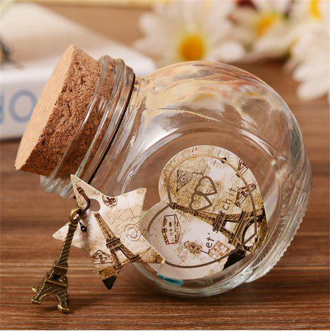 P0423-T816 Парижская башня Cork Glass Flash Wishing Bottle