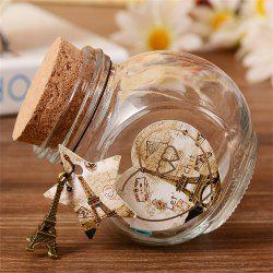 P0423-T816 Парижская башня Cork Glass Flash Wishing Bottle -