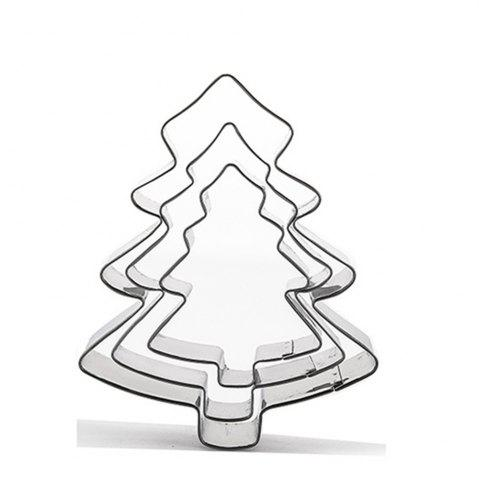 Discount 3pcs Stainless Steel Christmas Tree Cookie Cutter Cake Biscuits Decorating Tool