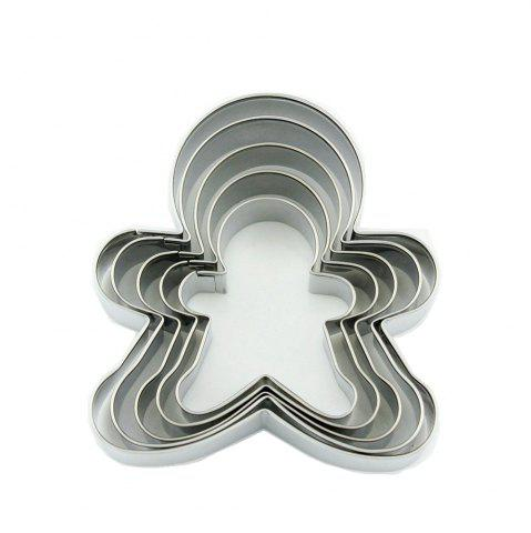 Hot 5pcs Stainless Steel Gingerbread Man Cookie Cutter Cake Biscuits Decorating Tool