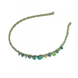 Blue Green Red Color Elastic Hairband -