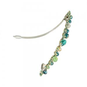 Blue Green Red Colorful Beads Barrettes Luxury Hair Clip -