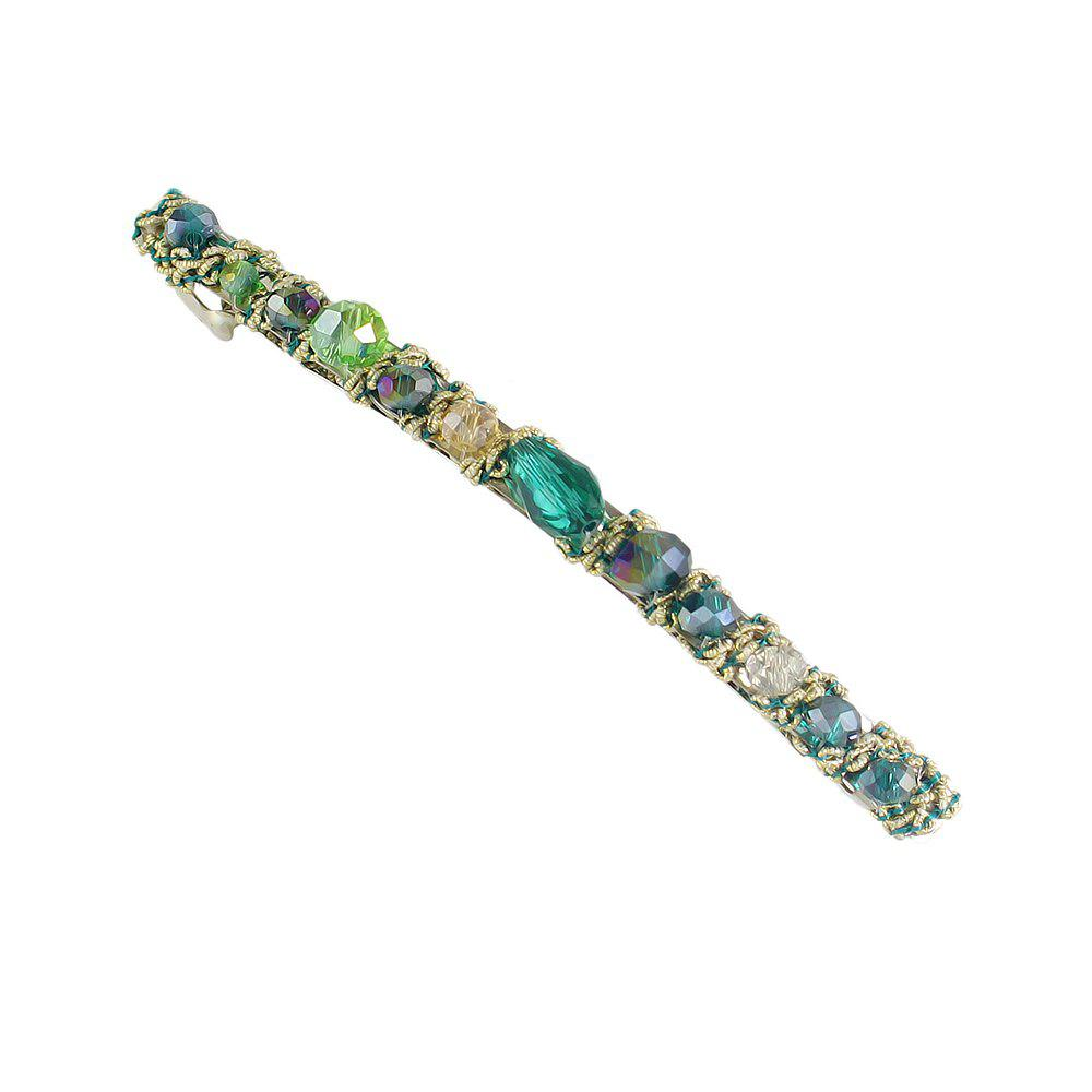 Discount Blue Green Red Colorful Beads Barrettes Luxury Hair Clip