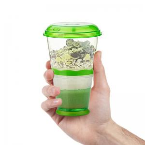 Breakfast Drink Cups Portable Yogurt and Cereal To-Go Container Cup -