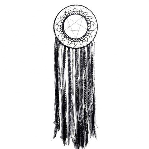 New New Style Handcrafted Black Lace Tassel Round Star Dreamcatcher Pendant