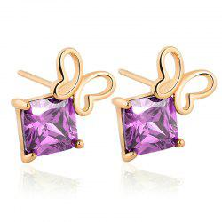 Generic Hollowed Out Butterfly Exquisite Zircon Earrings ERZ0243 -