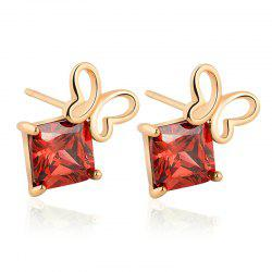 Generic Hollowed Out Butterfly Boucles d'Oreilles Exquis Zircon ERZ0243 -