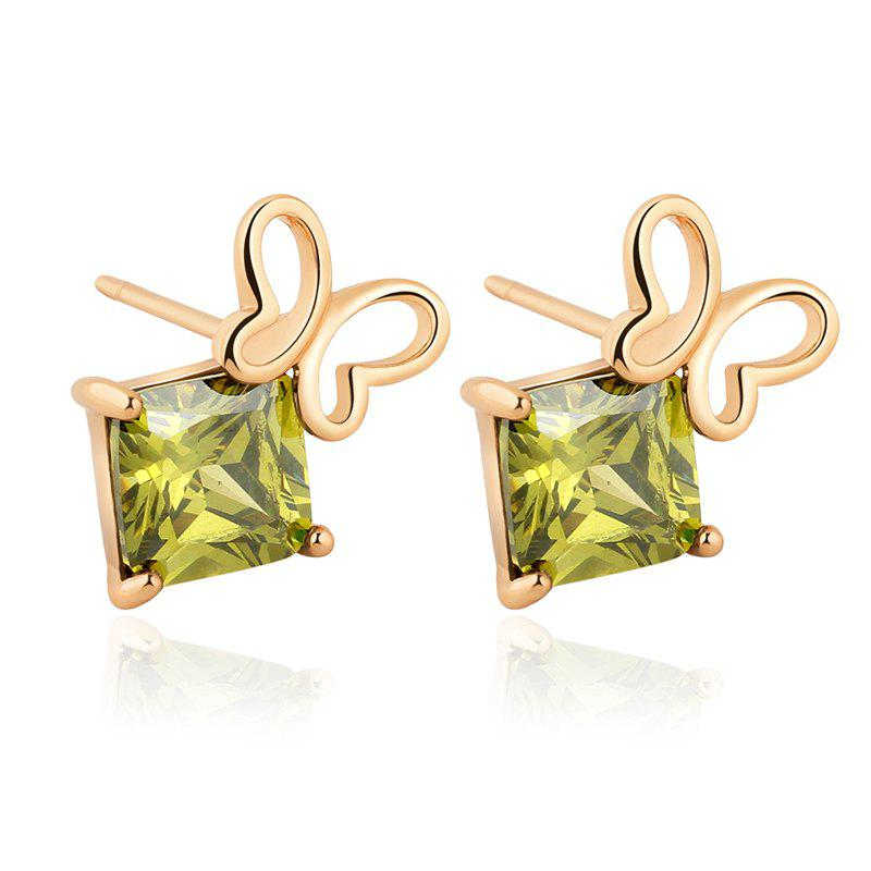 Trendy Generic Hollowed Out Butterfly Exquisite Zircon Earrings ERZ0243