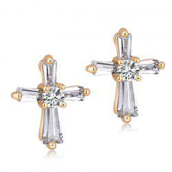 Boucles d'oreilles en zircon fines Cross Fashion ERZ0259 -