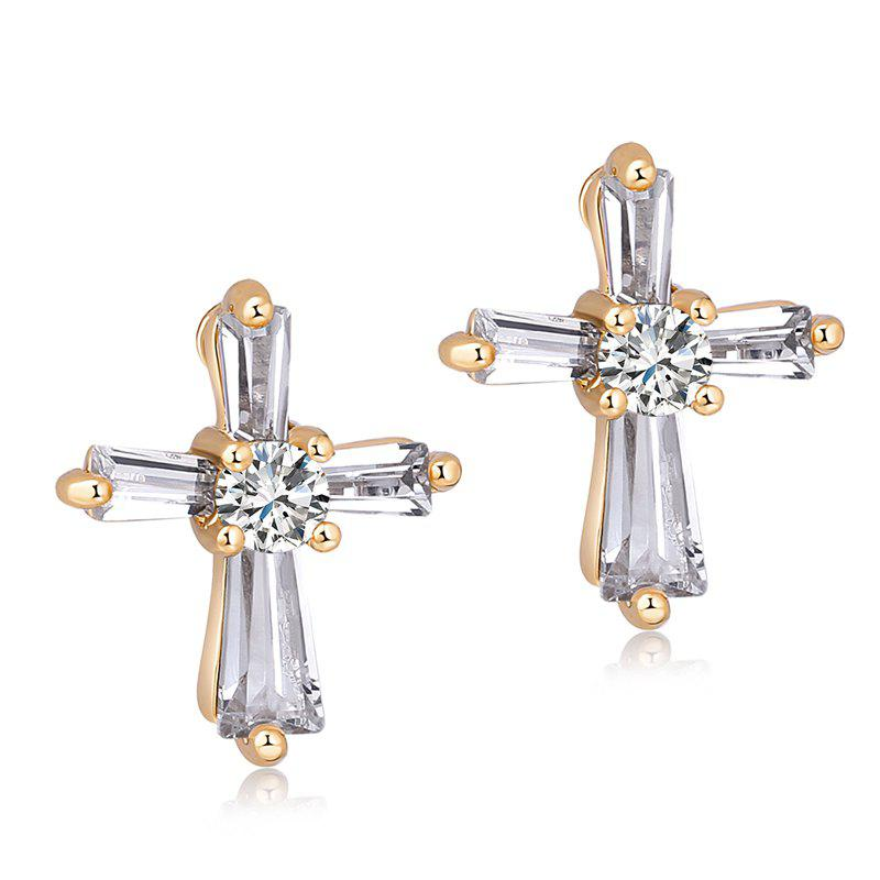 Boucles d'oreilles en zircon fines Cross Fashion ERZ0259