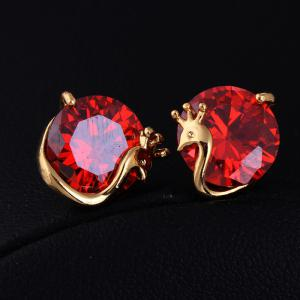 Lovely Little Peacock Exquisite Zircon Earrings ERZ0260 -