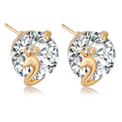 New Lovely Little Peacock Exquisite Zircon Earrings ERZ0260