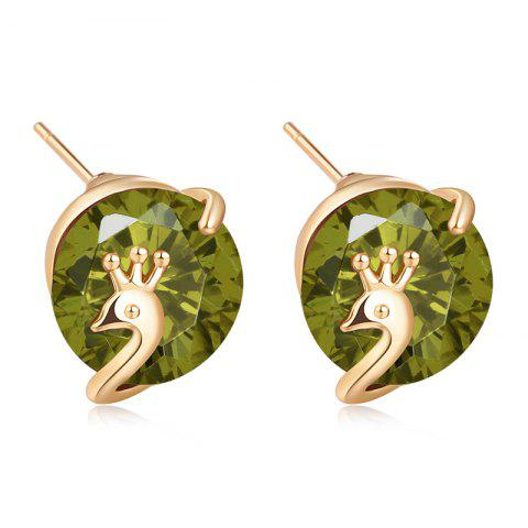 Chic Lovely Little Peacock Exquisite Zircon Earrings ERZ0260