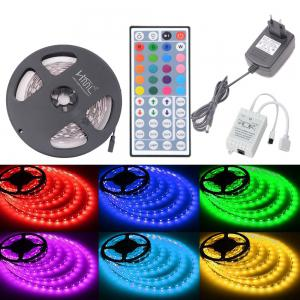 HML 5050 x150 RGB LED Lights Kit with 44key IR Remote Controller and EU-plug -
