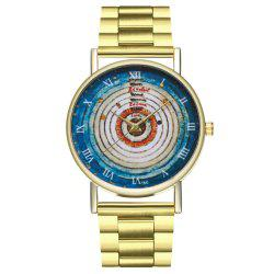 ZhouLianFa Annual Rings Solar System Illustration Astronomy Space Dress Watch -
